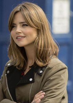 """Jenna Coleman as """"the Doctor"""" Natural Hair Styles For Black Women, Hair Color For Women, Medium Hair Styles, Curly Hair Styles, Curly Hair Updo, Hair Today, New Hair, Hair Makeup, Hair Cuts"""
