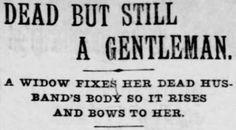 Yesterday's Print / Dead but still a gentleman