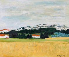 Georges Borgeaud - Maussane, Provence, 1989 - Huile sur toile, 60x73,5 cm. Provence, Online Katalog, Lausanne, Painting, Beautiful, Art, Facebook, Photos, Collection