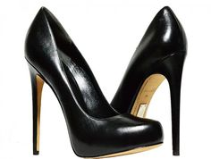 Alejandro Ingelmo - Leather Round Toe Pumps - Black - Size 8.5 M US / 39 EU