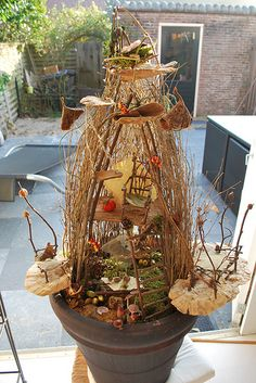 Fairy house by Dees!, via Flickr