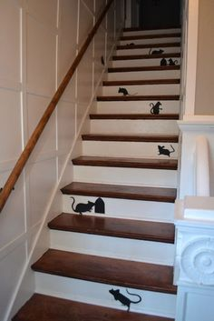 Mice on the stairs for Halloween