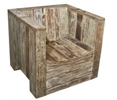 Chair Made from Reclaimed Teakwood by The Old Cinema http://www.theoldcinema.co.uk/