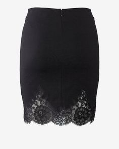 Robert Rodriguez EXCLUSIVE Lace Trim Ponte Skirt-- Would like it better if it were a tad longer
