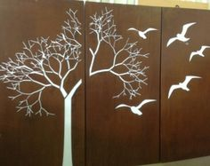 Tree with Scattered Leaves - PO Box Designs