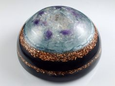 This large half sphere dome (4.75 diameter by 2.75 thick and 3 pounds) Orgone Positive Energy Generator (OPEG) is a great home protection piece.