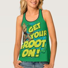 Guardians of the Galaxy Vol. 2   Get Your Groot On Tank Top   Marvel Comics Tank Tops For Teens and For Women   Marvel Fans