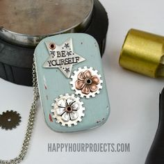 Recycled Mint Tin Music Box