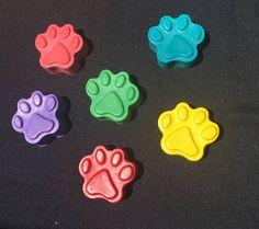 Paw Print Crayon Party Favors 10 bags Paw Patrol birthday