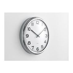 PUGG Wall clock - IKEA  office clock - do something with the chrome finish?