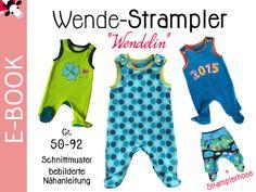 """Nähanleitungen Baby - e-Book Wende-STRAMPLER """"Wendelin"""" Gr... - ein Designerstück von muhkuefchen bei DaWanda"""