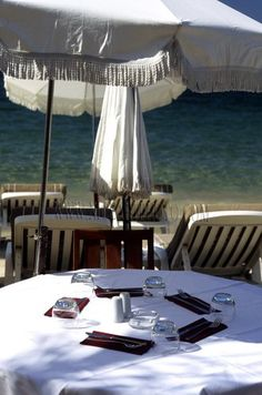Juan les pins. This view looks a lot like St Tropez (Pamplonne Beach and restos)