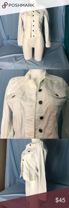 KUT from the Kloth White Jean Jacket Buttons down the front. 2 breast pockets Kut from the Kloth Jackets & Coats Jean Jackets