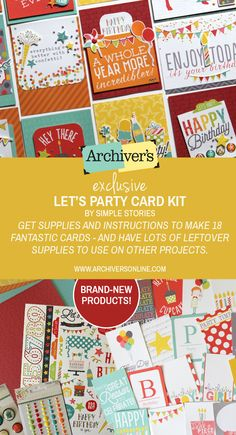 Let's party with this card kit you'll only find at Archiver's!