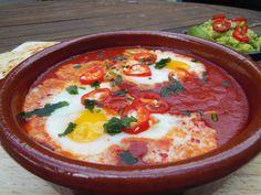 Mexikanische Spiegeleier   Rezept   Rancher's Eggs