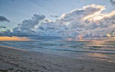 Ocean Sunrise Good Beautiful Beach Splendor View Morning Lovely Colors Clouds…