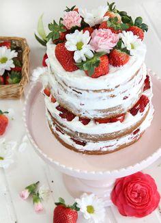 Sweet Days, Sweetest Day, Layer Cakes, Relleno, Tarts, Desserts, Food, Vanilla Sponge Cake, Custard
