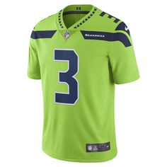 Nike NFL Seattle Seahawks Color Rush Limited (Russell Wilson) Men's Football Jersey Size 3XL (Green)