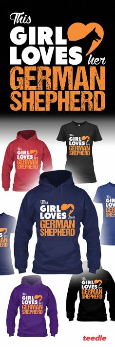 Check out this cool new hoodies and tshirts designed by Teedle exclusively for German Shepherd owners.