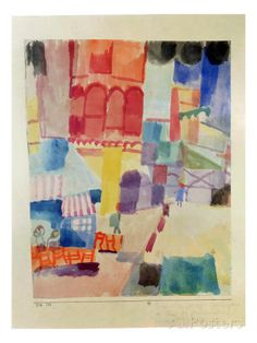 In Front of a Mosque in Tunis, 1914 Giclee Print by Paul Klee - at…