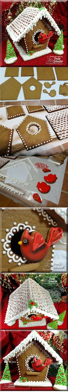 True's Gift's From the Heart: My Very First Gingerbread House! Decorate with icing before your assemble! Gingerbread House Parties, Make A Gingerbread House, Christmas Gingerbread House, Christmas Treats, Christmas Baking, All Things Christmas, Gingerbread Cookies, Christmas Cookies, Christmas Holidays