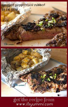 mustard peppercorn rubbed rib eye steak mustard peppercorn rubbed rib ...