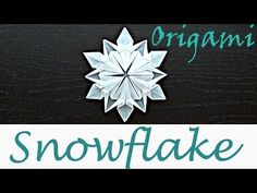 How to make a Snowflakes out of Paper - Origami Snow flake (Dennis Walker Designer) - YouTube