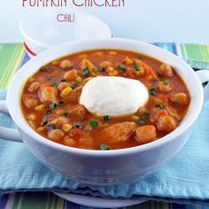 Pumpkin Chicken Chili Recipe | Yummly