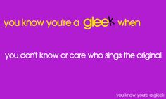 the glee version is almost always better