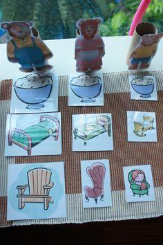 Activity ideas for Goldilocks and the 3 bears - Ricitos de Oro Bears Preschool, Nursery Rhymes Preschool, Preschool Literacy, Literacy Activities, In Kindergarten, Preschool Crafts, Activities For Kids, Activity Ideas, Fairy Tale Activities