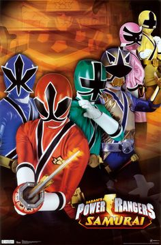 Power Rangers Samurai Group Television Poster 13 x This versatile and affordable poster delivers sharp, clean images and a high degree of color accuracy. Your poster is printed with an offset lithography press with a coating to protect the inks. Power Ranger Party, Power Ranger Birthday, Power Rangers Fantasia, Power Ranger Samurai, Power Rengers, Go Go Power Rangers, Ninja Party, Pokemon, Mighty Morphin Power Rangers