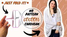1 piece blanket cocoon Cardigan DIY Easy Sewing Tutorial (no pattern!) Easy Sewing Patterns, Shawl Patterns, Sewing Tutorials, Clothing Patterns, Sewing Projects, Free Tutorials, Cocoon Cardigan, Wearable Blanket, Cardigan Pattern