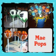 Baby shower Sports themed cake pops