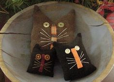 from ebay:  halloween bowl fillers made from a thrift store men's sport coat, pillow sized.