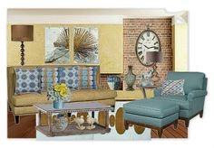 This room features textiles from Jonathan Alder