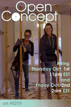 Tune in to HGTV this Thursday evening to check out Shanty2Chic's new show Open Concept!