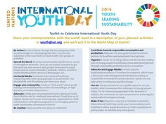 Toolkit for the 2016 International Youth Day