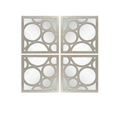 Set of 4 accent wall mirrors