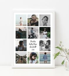 Decoration – Personalizable family picture Best Dad – a unique product by DaisyDesignStudio on DaWanda Diy Gift Box, Diy Gifts, Photo Deco, Foto Poster, Album Design, Birthday Diy, Best Dad, Boyfriend Gifts, Photo Book