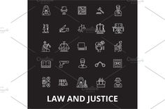 Urban Icon, Outline Illustration, Word Art Design, Law And Justice, Certificate Templates, Line Icon, Flat Design, Brochure Template, Architecture