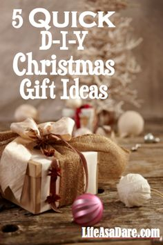 Easy DIY Christmas Gift Ideas with Free Printables | Christmas ...