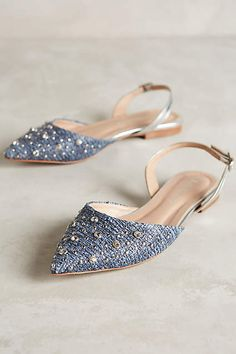 Raphaella Booz Jeweled Prinnia Slingbacks - cute pointy toe flats