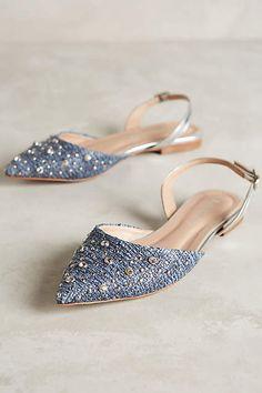Raphaella Booz Jeweled Prinnia Slingbacks - cute pointy toe flats