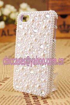 bling iphone 4 case pearl stylefree shipping by blingcase on Etsy, $42.98
