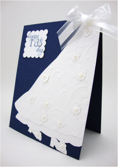 Too cute -- lots of ideas here for wedding cards