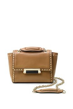 440 Mini Faceted Stud Leather Bag In Camel