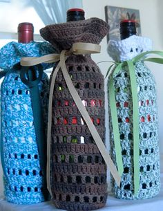 Crocheted Wine Cozy 101 - HOMEGROWN @Christina Childress Childress Childress Childress Childress & Dezuanni Cyr