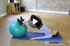 OMG YOU WILL REALLY FEEL THIS!! 5-Minute Booty Workout with Ball | via @SparkPeople #fitness #exercise #butt #video