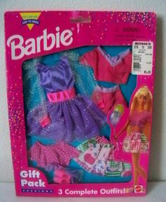 Mattel Barbie 1995 Easy to Dress Gift Pack 3 Complete Outfits 7pc Set   eBay