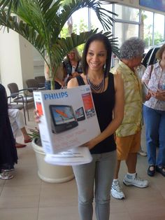 She left very happy with a great consolation prize.  She would have liked to win the Grand Cherokee even more!